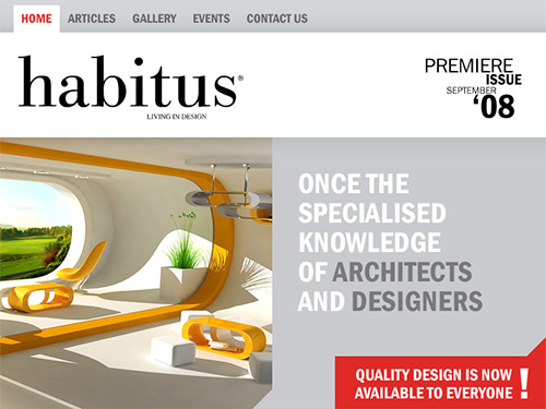 portfolio thumbnail for Habitus website